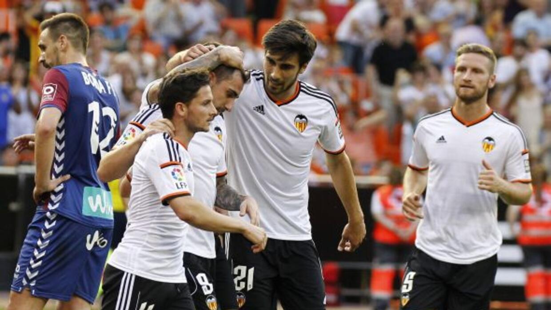 Los valencianos no pasaron problemas para imponerse en Mestalla.
