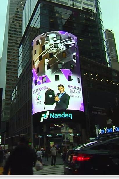 Por primera en la historia nuestro talento se desplegó en Times Square p...