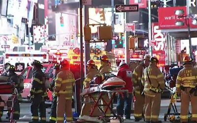 'Nueva York en un Minuto': incendio en un restaurante en Times Square