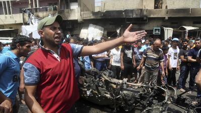 Atentado terrorista en un mercado de Bagdad, Irak