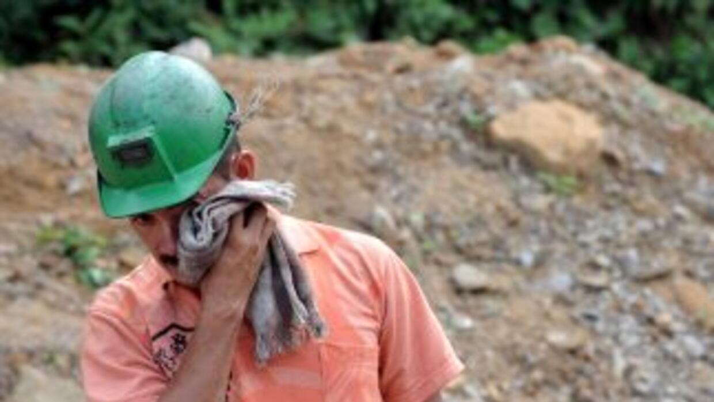 Los mineros exigen mejoras en su trabajo.