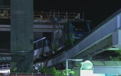 Dos trabajadores de construcción heridos tras ser impactados por el Metr...