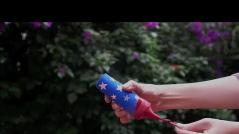 DIY: Lanzadores de confetti para 4 de julio