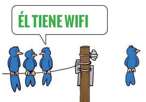 """""""El tiene WiFi""""."""