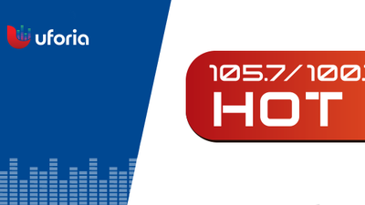 Hot 105.7/100.7 Logo