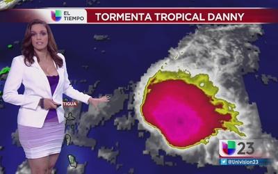 Desarrollo de la tormenta tropical Danny