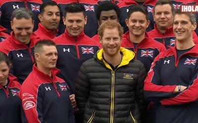 El Príncipe Harry apoya a atletas