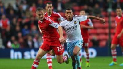 Southampton no pudo abrir el marcador ante los 'Hammers'.