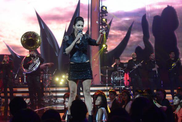 Virginia Stille interpretó un tema del juez invitado, Julión Álvarez.