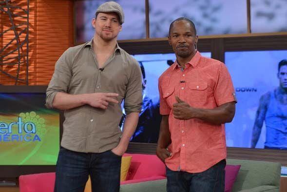 Los actores Jamie Foxx y Channing Tatum nos hicieron pasar una mañana ll...