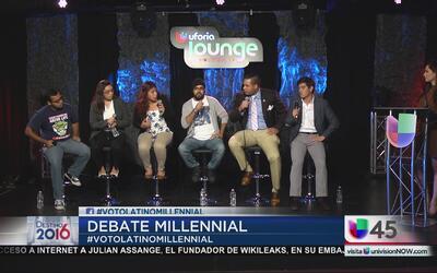 Los puntos de vista de los jóvenes que participaron en el primer debate...