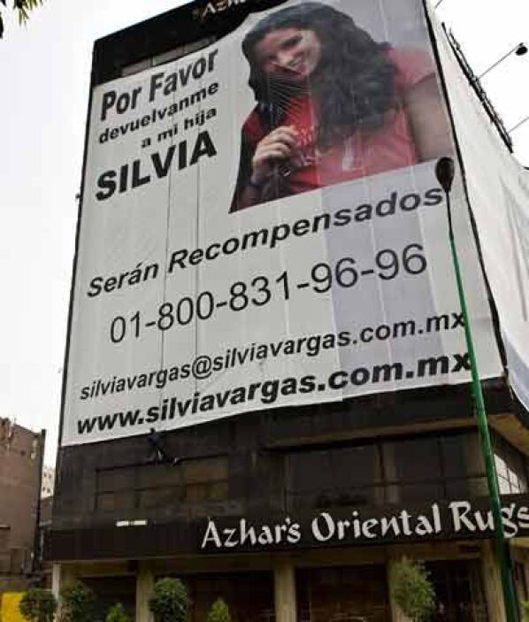 La joven Silvia Vargas EscaleraSilvia Vargas, de 18 años, fue secuestrad...