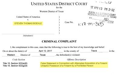 Declaración del FBI en el caso de Steven Thomas Boehle