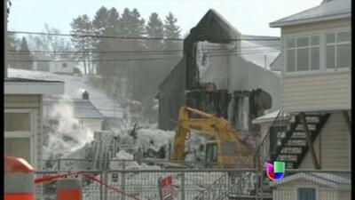 Habrían muerto 32 personas durante un incendio en Québec