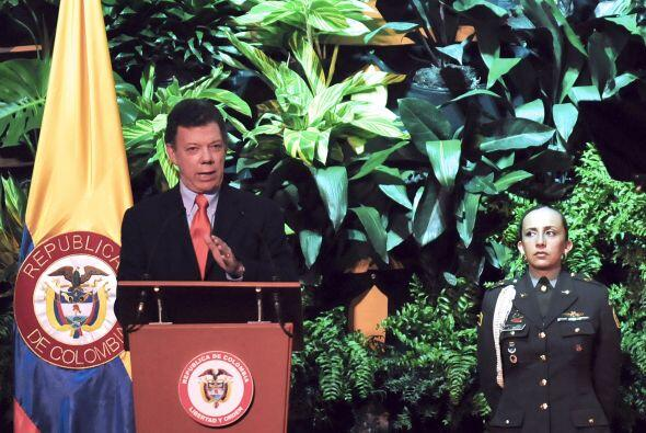 La información fue difundida por el presidente de Colombia, Juan Manuel...