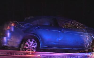 Automóvil con cuatro pasajeros fue impactado por un ferrocarril mientras...