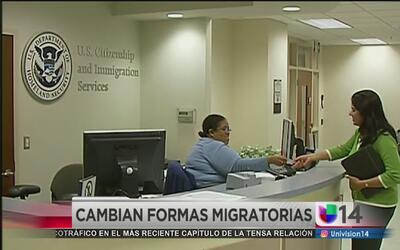 Nuevos formularios para trámites migratorios
