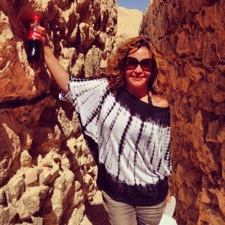Jessica Maldonado estuvo en el paso de Herodes, en Israel.