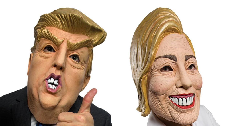Resultado de imagen para donald trump y hillary disfraces