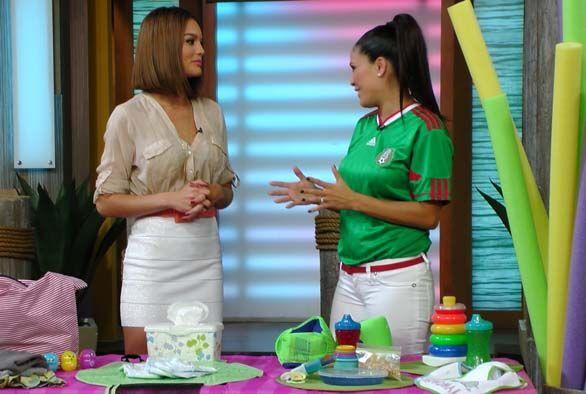 La ex Miss Universo Zuleyka Rivera también llegó al estudio con muy buen...