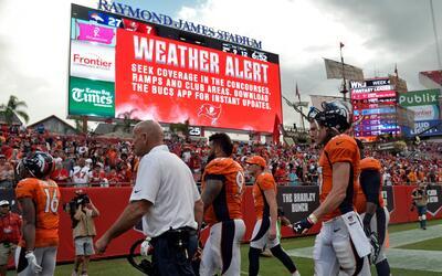 De nuevo el clima hizo de las suyas en Tampa y aplazó partido ante Broncos