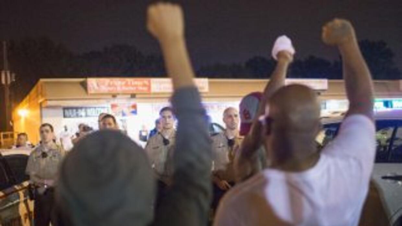Las protestas en Ferguson durante esta semana, a un año de la muerte de...