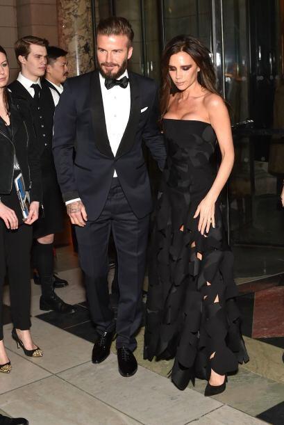 Era una noche glamorosa para David y Victoria.