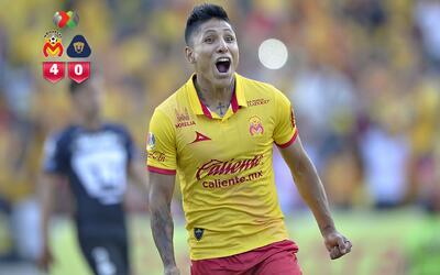 Morelia se impuso por 4-0 con tres goles de Raúl Ruidíaz
