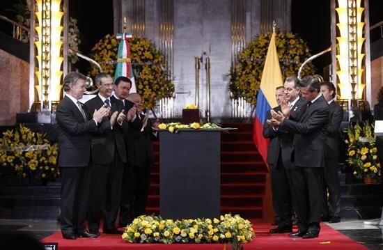 Tanto Enrique Peña Nieto como Juan Manuel Santos participaron en...
