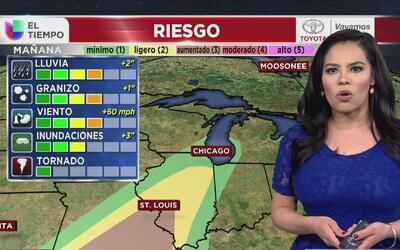 Servicio Nacional de Meteorología mantiene a Chicago en el rango de cond...