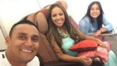 Keylor Navas y su familia contentos con el fichaje del portero con el Re...