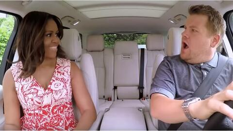 Michelle Obama y James Corden.