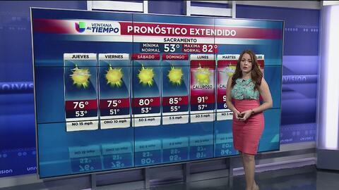 Temperaturas frescas sin presencia de lluvia en Sacramento