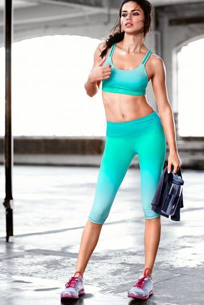 El 'look' de Lima fue muy sensual en cada una de sus rutinas de ejercicio.