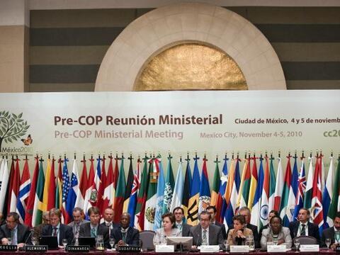 Previo a la Conferencia de las Naciones Unidas en Cancún, se llevó a cab...