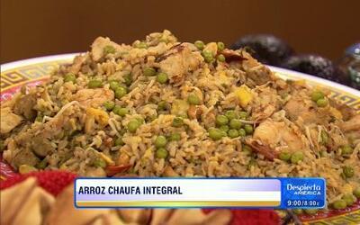 Receta de Arroz Chaufa integral con el Chef Pepín