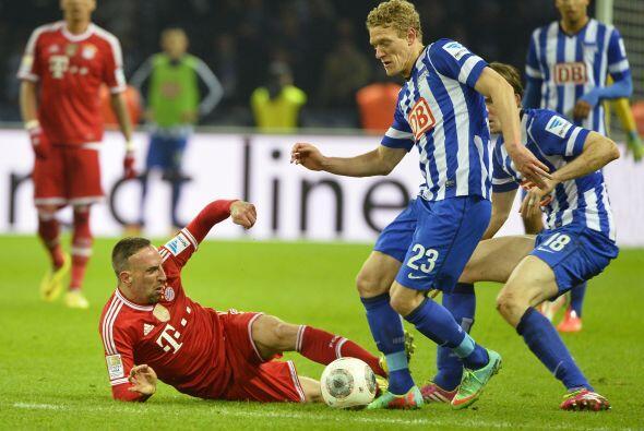 Poco pudo hacer Hertha para evitar el triunfo de los flamantes campeones...
