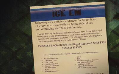 Panfletos distribuidos en barrios con residentes de raza negra instan a...