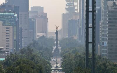 El cielo contaminado de la Ciudad de México a principios de julio...
