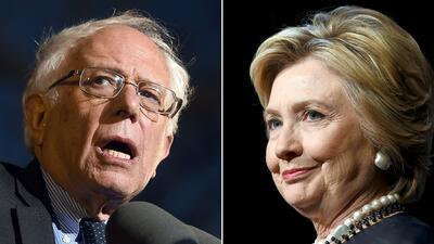 Hillary Clinton y Bernie Sanders