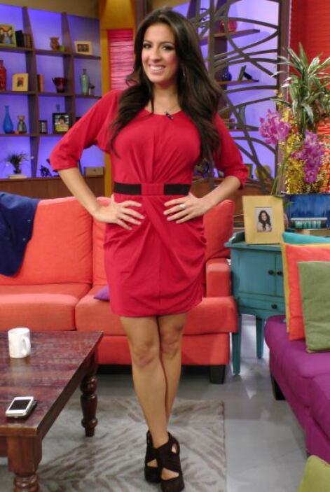 También Maity llevaba un atuendo rojo, ¿se habrán puesto de acuerdo?