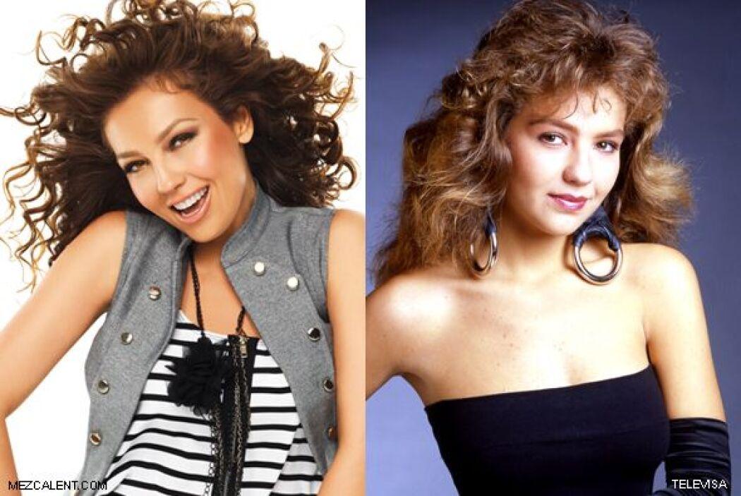 Thalía ha cambiado mucho desde que la vimos en sus primeras telenovelas...
