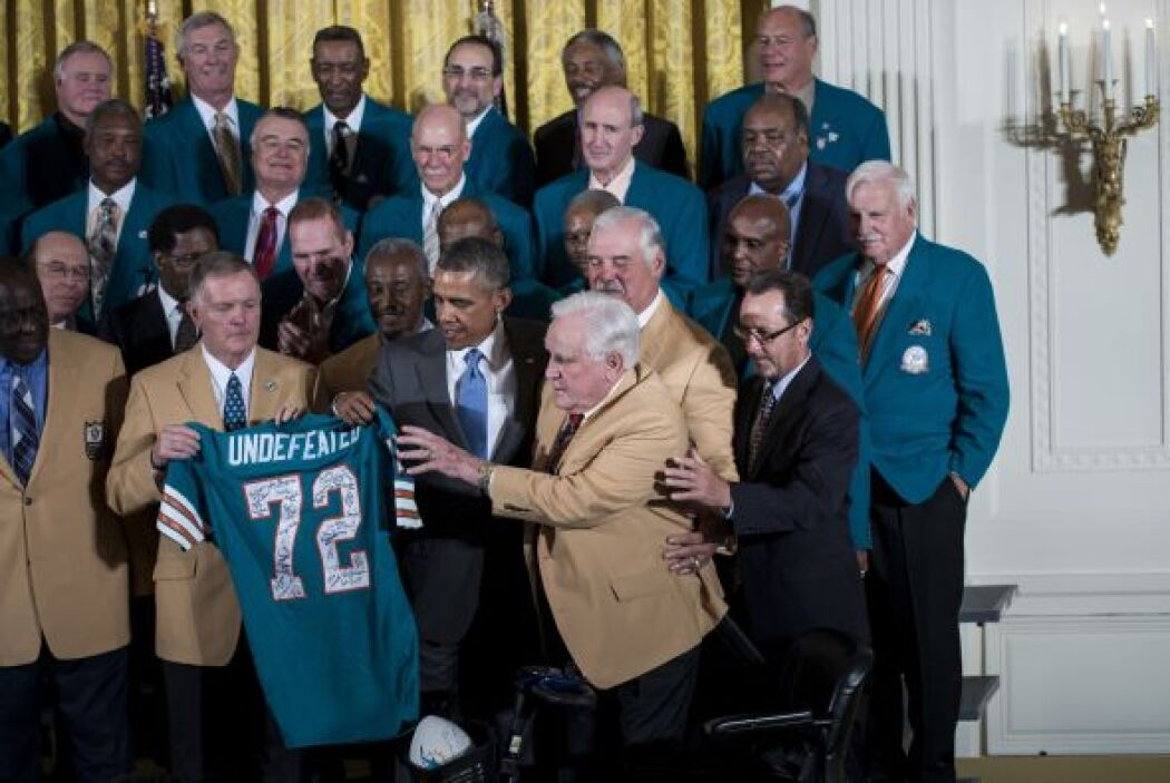 El presidente de los EEUU Barak Obama recibió en la Casa Blanca a los Mi...