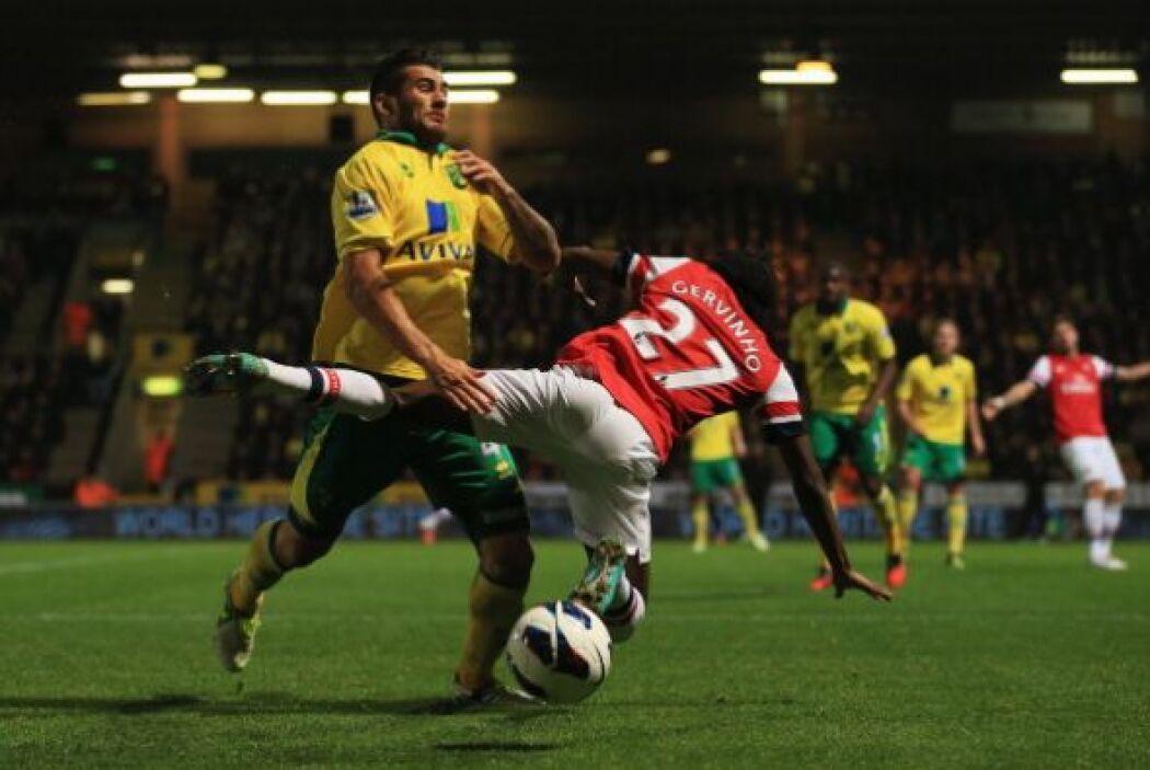 Defendió con todo el Norwich y no dieron libertades al Arsenal.