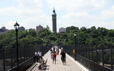 High Bridge, el puente más antiguo de la ciudad de Nueva York, es uno de...