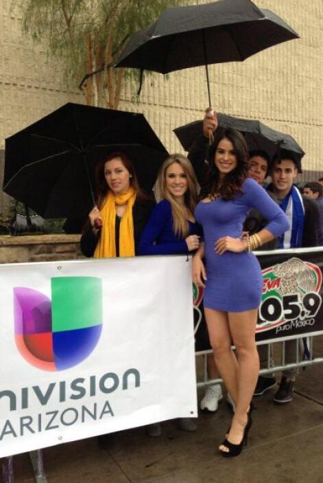 La lluvia no impidió que las chicas de Phoenix olvidaran su gran día.