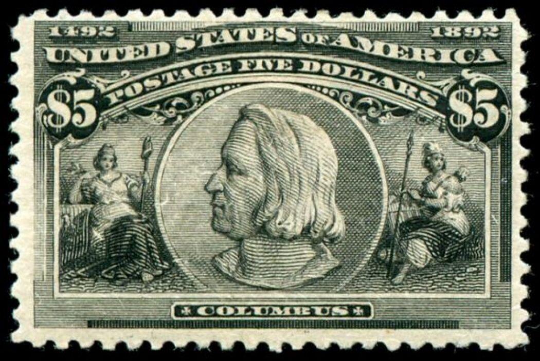El billete de Estados Unidos, emitido en 1893, muestra un perfil herméti...