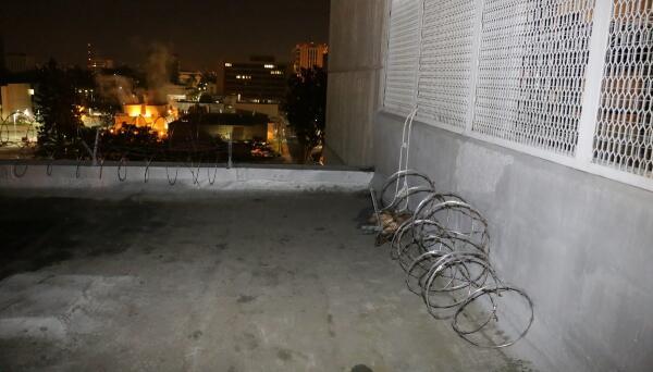 Azotea desde donde se cree que los fugitivos escaparon con cuerdas hecha...