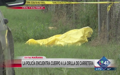 Investigan cuerpo hallado en carretera