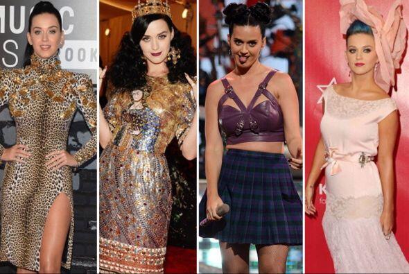 ¡Los drásticos cambios de 'look' de Katy Perry cada vez van de mal en pe...